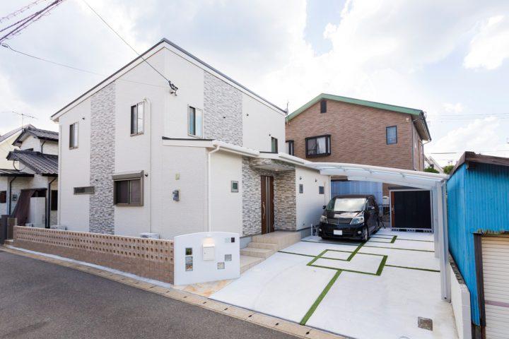 北九州市小倉北区「高級感のあるモノトーンナチュラルな家」