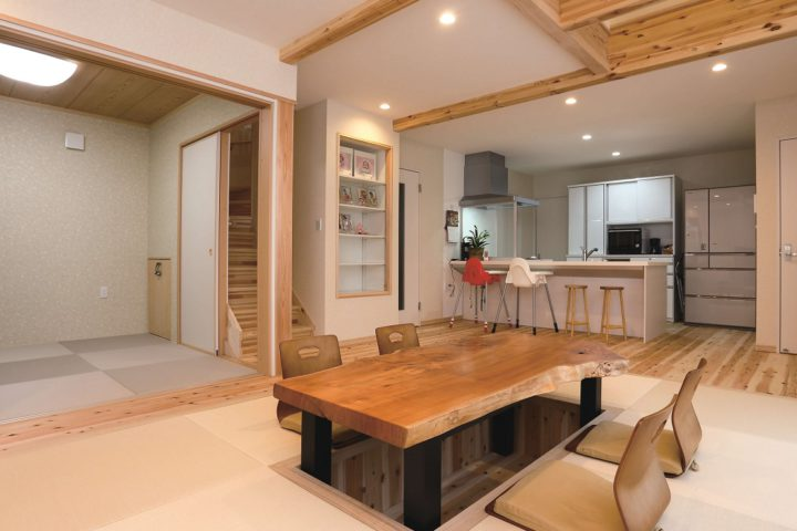 北九州市小倉南区「畳と掘りごたつにこだわった和テイストな家」