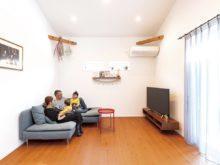 北九州市門司区「大きな吹き抜け&勾配天井のある家」
