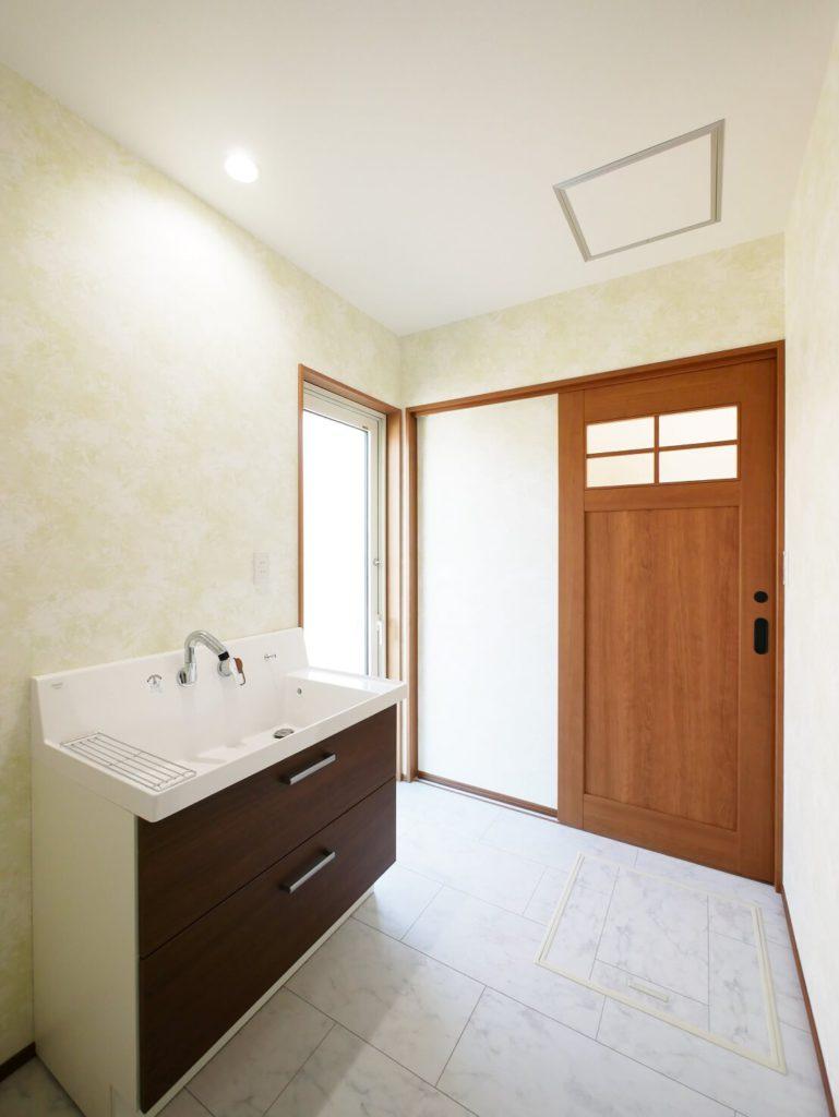 イーホームが建てた平屋の洗面室
