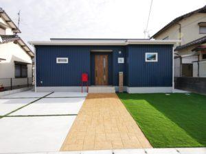 北九州市小倉南区ガルバの平屋の家の外観